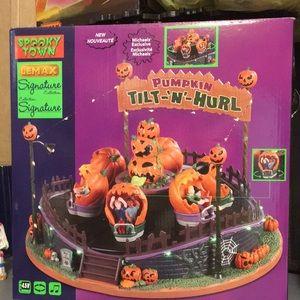 Lemax Spooky Town Pumpkin Tilt N  #94487 Halloween